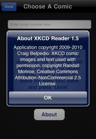 XKCD Comic Reader free app screenshot 1
