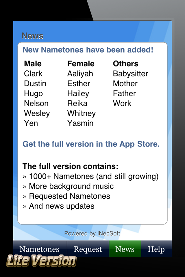 Nametones Lite – Caller ID Ringtones (Free) Screenshot