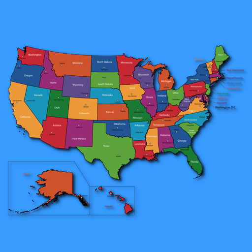 Pingoimages Map Of States With Capitals - Usa states and capitals map