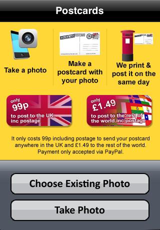Postcards free app screenshot 1