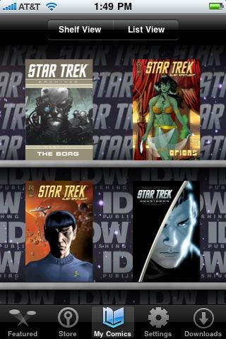 Star Trek Comics free app screenshot 1
