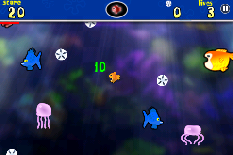 Fish Food Frenzy Free free app screenshot 1