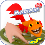 MazeArtPlus: 60 fun engaging 3D mazes for kids 4 to 10+ icon