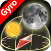 3D Sun Moon Compass for iPhone4 - Gyroscope enabled - iPhone - Navigation - Astronomy - By Shen Ji Pan