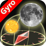 3D Sun&Moon Compass for iPhone4 (Gyroscope enabled)