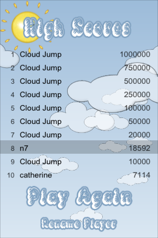 Cloud Jump – BE WARNED.. AWESOMELY Addictive Screenshot