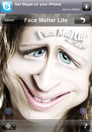 Face Melter Lite free app screenshot 1