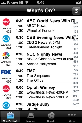 TV-Listings USA free app screenshot 1