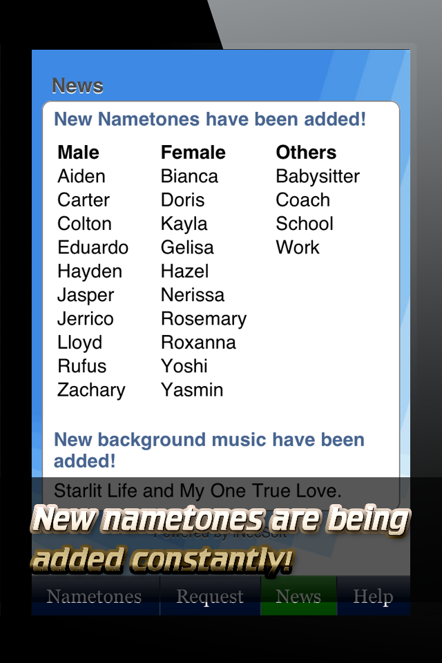 Nametones – Caller ID Ringtones Screenshot