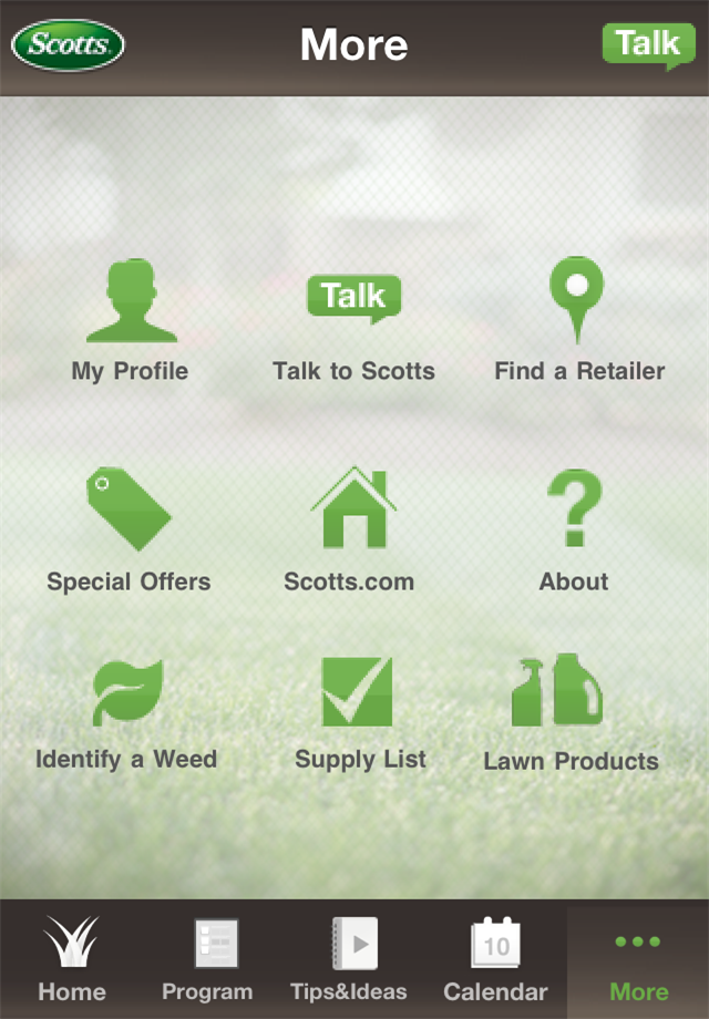 lawn and allows you to track and plan your lawn care activities