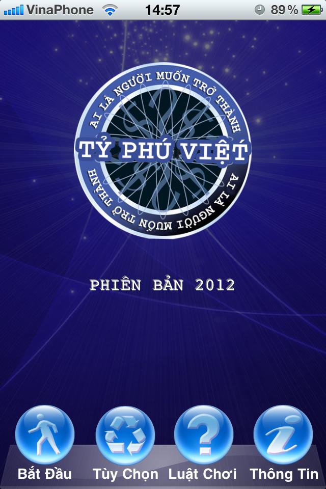 Ai Là Tỷ Phú Phiên Bản 2012