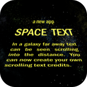 Space Text icon