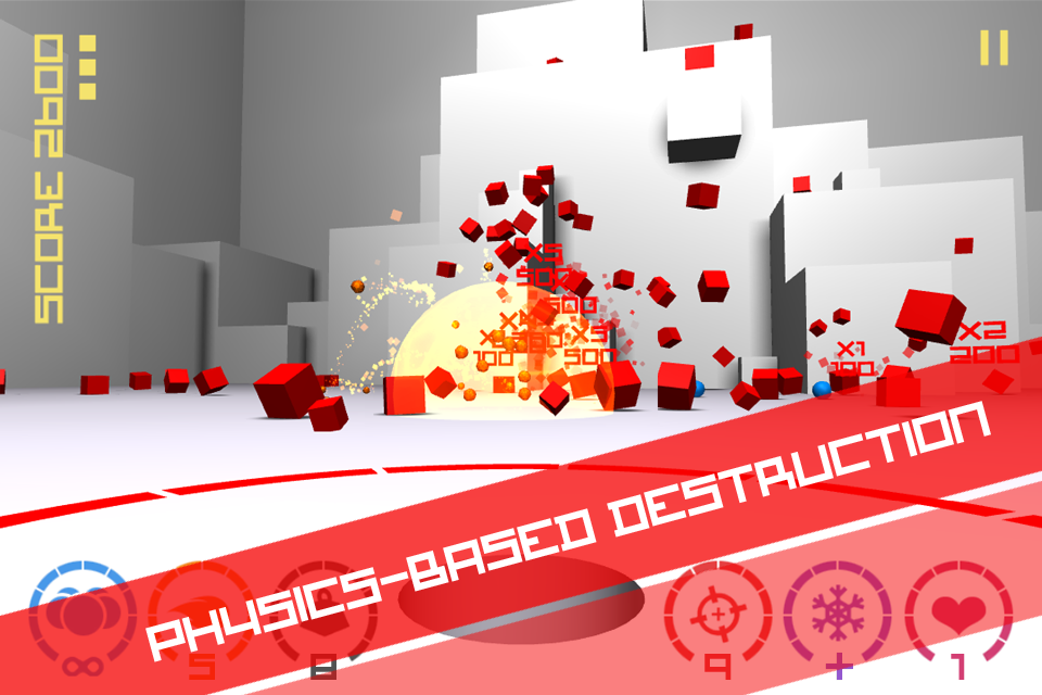 Free Cubes vs Spheres iPhone Game