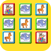 matching game for babies and children icon