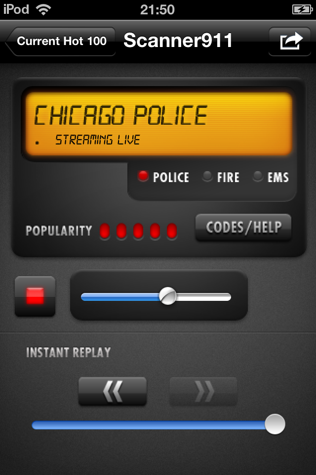 Scanner911 Police Radio Pro screenshot 1