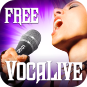 VocaLive FREE for iPad icon