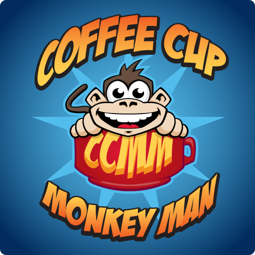 Coffee Cup Monkey Man