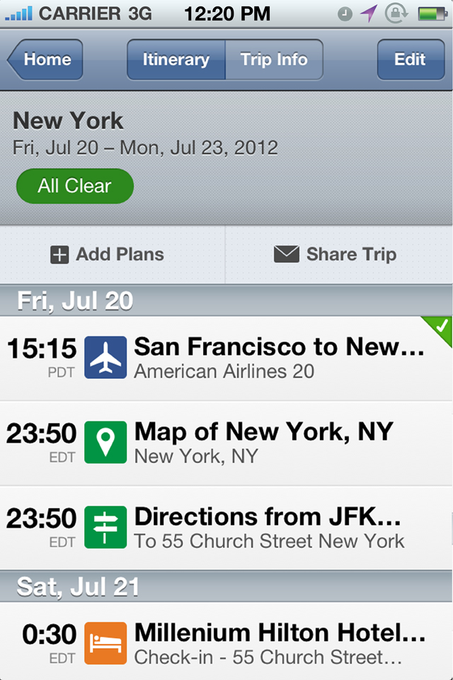 TripIt - Travel Organizer no ads