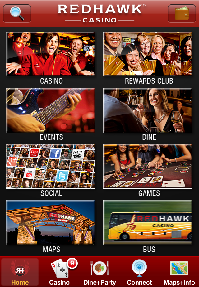 Image of Red Hawk Casino for iPhone