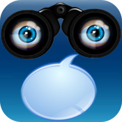 Talking Goggles - a camera with speech icon
