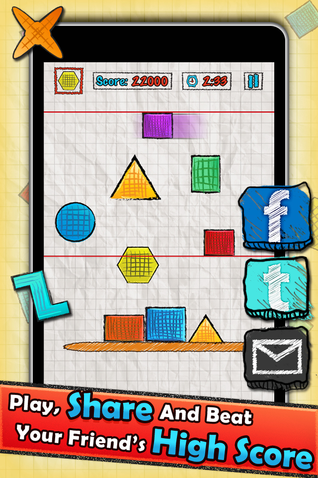 Doodle Tower – Stack The Shapes Screenshot
