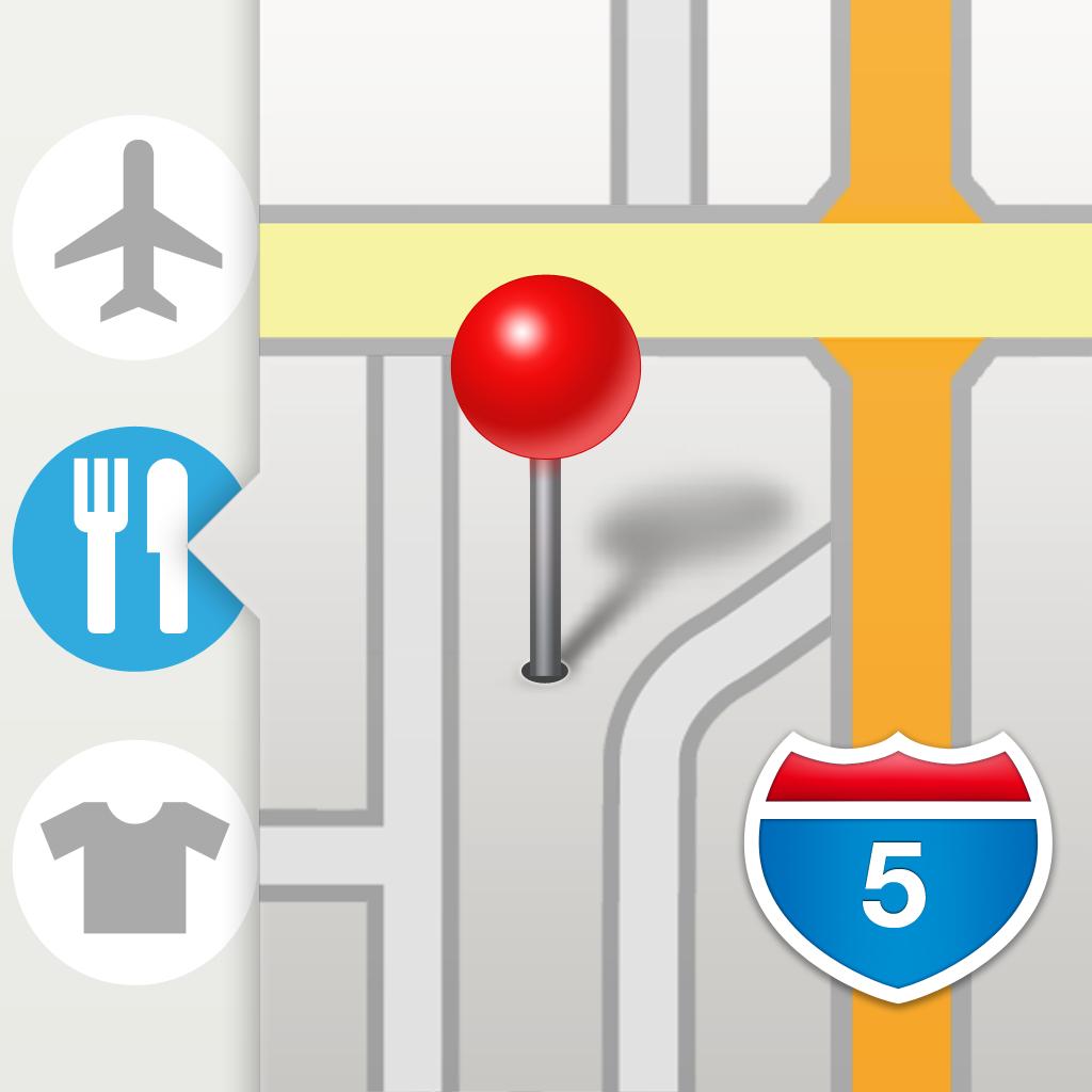ポケットマップ - 地図ブックマークのフォルダ管理