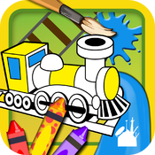 Trains Coloring Book icon