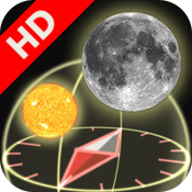 3D Sun&Moon Compass HD for iPad2 (Gyroscope enabled) icon