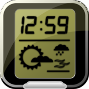 Dock Clock - clock & weather icon