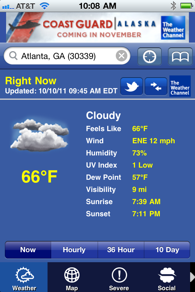 The Weather Channel screenshot 1