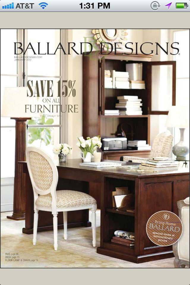 app shopper ballard designs interior design and home furnishings catalogs. Black Bedroom Furniture Sets. Home Design Ideas