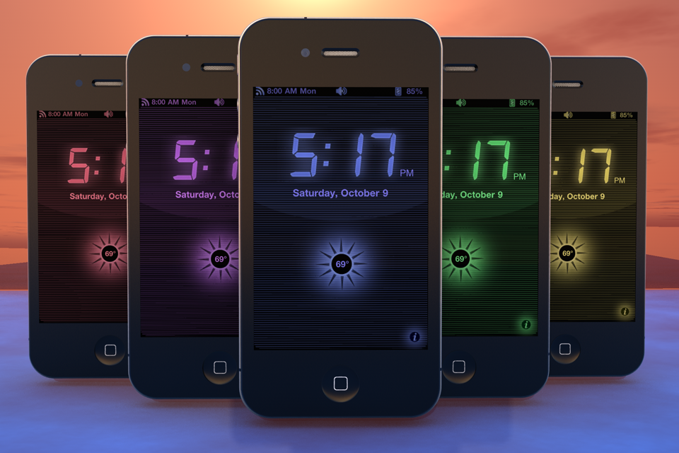 radio alarm clock with weather sonio utilities free app. Black Bedroom Furniture Sets. Home Design Ideas