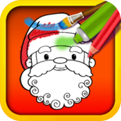Christmas Color & Draw: coloring book HD icon