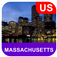 Massachusetts, USA Offline Map
