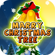 Marry Cristmas tree icon