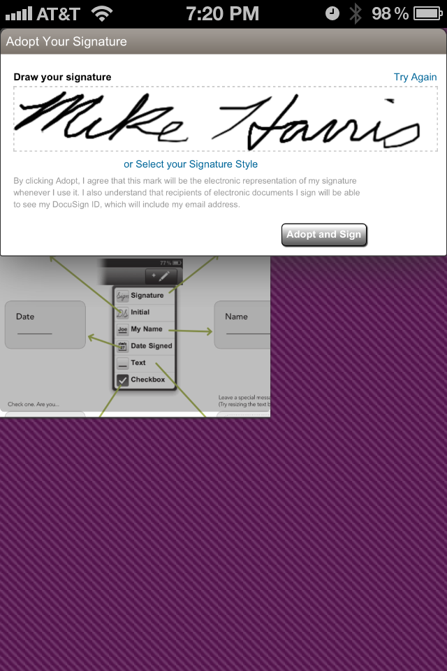 'DocuSign Ink' Mobilizes E-Signatures