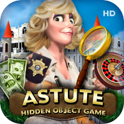 Astute Detective HD - hidden objects puzzle game icon