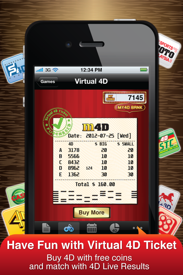 Image of My4D PRO - 4D Live Result for Magnum, SportsToto, Damacai, Singapore Pools for iPhone