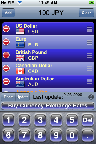 Currency Exchange Rates Free