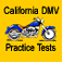 Motorcycle practice tests for California Department of Motor Vehicles Permit DMV