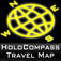HoloCompass with Travel Map and Local Tourist Information