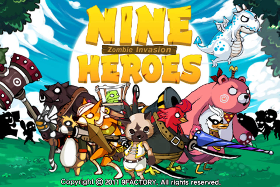 Free 9Heroes Defence  iPhone Game