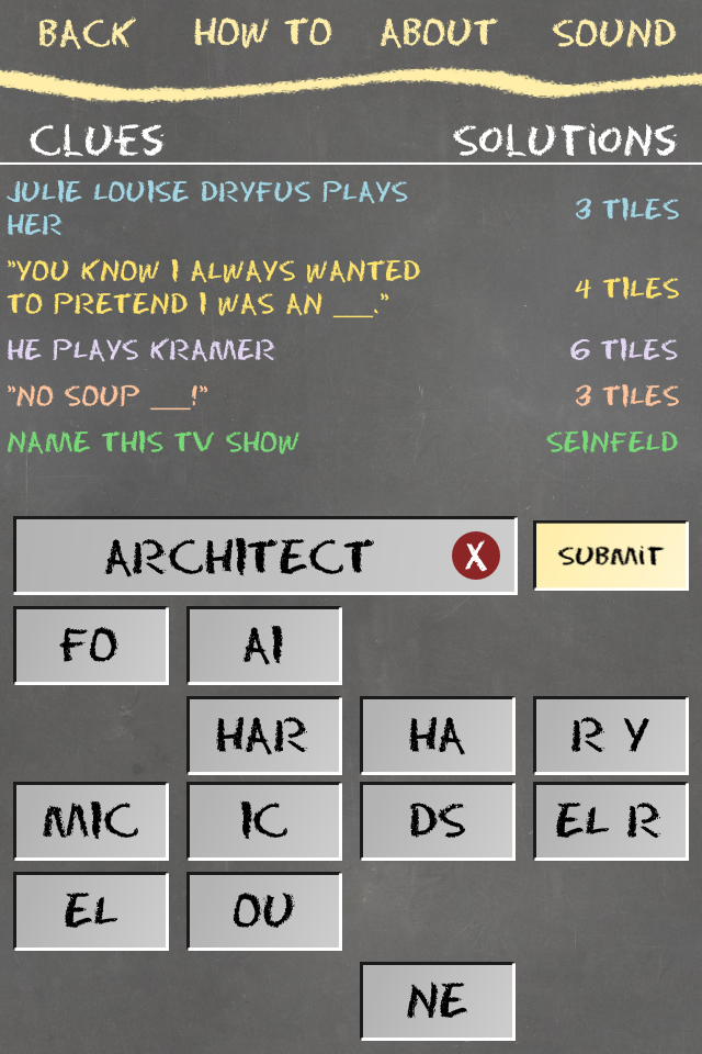 Lacunas Word Puzzles Screenshot