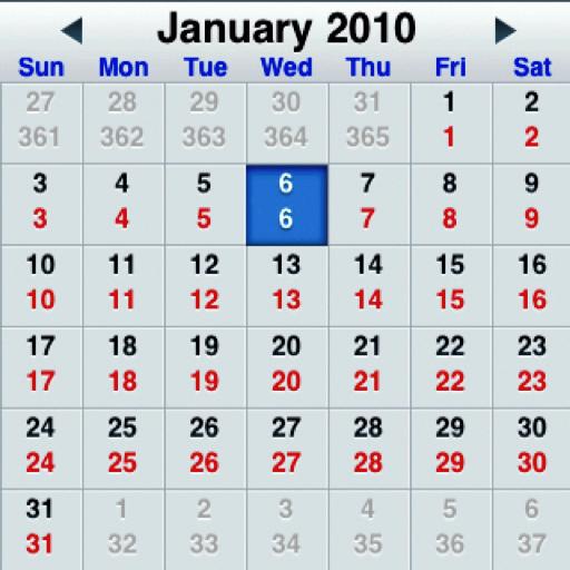 Desktop Julian Date Calendar