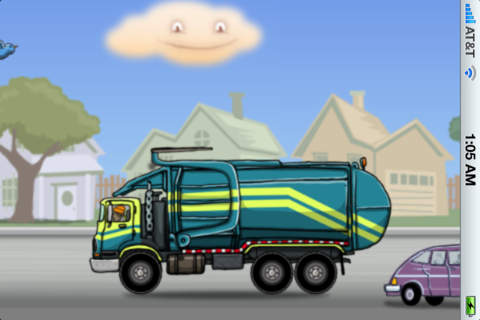 Garbage Truck Picking Up Dumpster