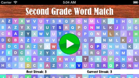 Second Grade Word Match