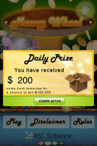 Money Wheel iPhone Screenshot 5