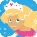 Fairy Tale Games: Mermaid Princess Puzzles mobile app icon