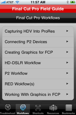 Final Cut Pro Field Guide iPhone Screenshot 2