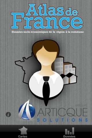 Atlas de France - Données socio-économiques de la région à la commune